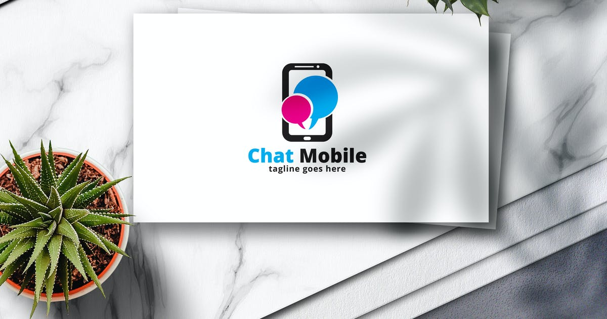 Download Chat Mobile Logo by Voltury