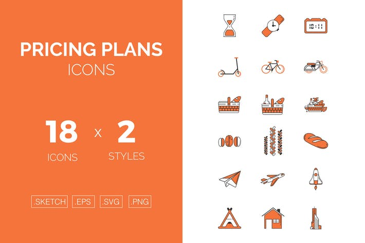Thumbnail for Pricing plans icons