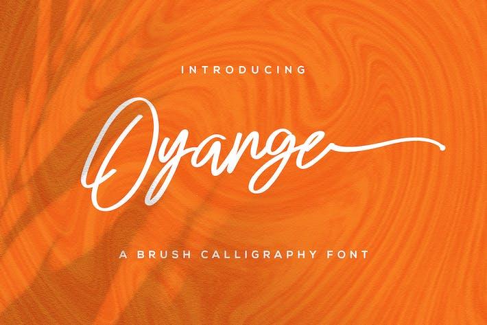Thumbnail for Oyange - Brush Calligraphy Font