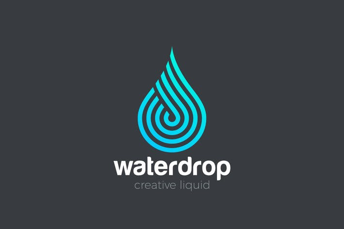 Thumbnail for Logo Water Drop Aqua Droplet Waterdrop Drink