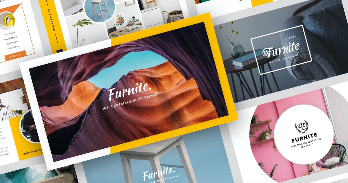 Download Furnite - Interior Design PowerPoint Template by StringLabs