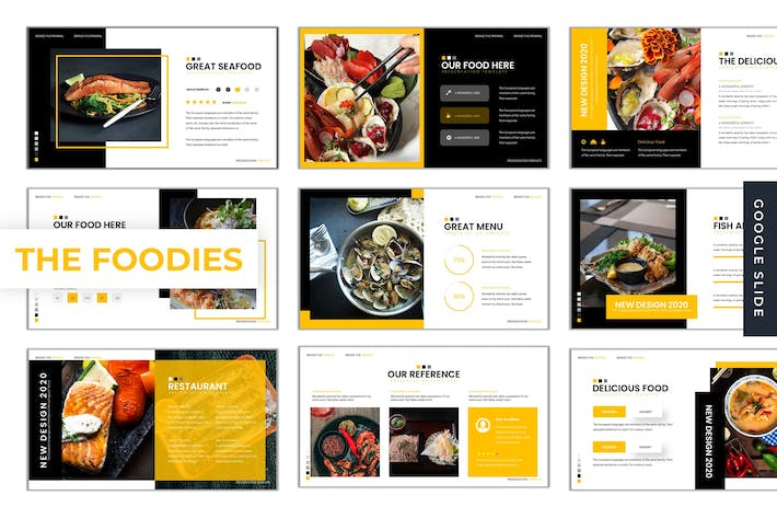Thumbnail for The Foodies - Google Slide Template