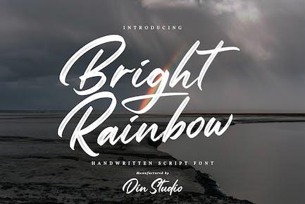 Bright Rainbow-Classy Brush Font