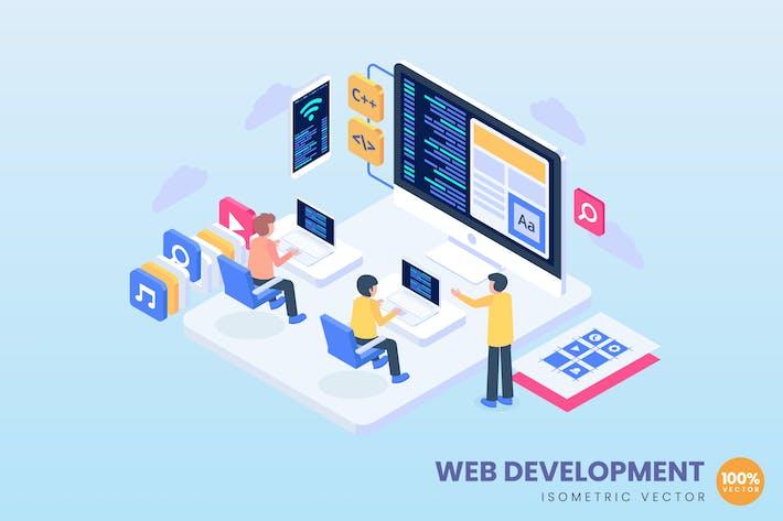Thumbnail for Web Development Concept Illustration