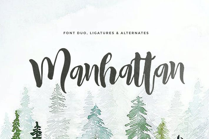 Thumbnail for Manhattan (2 fonts)