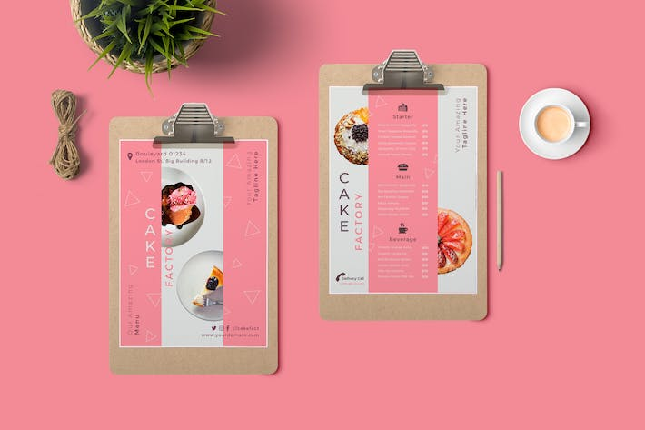 Thumbnail for Cake Restaurant Menu
