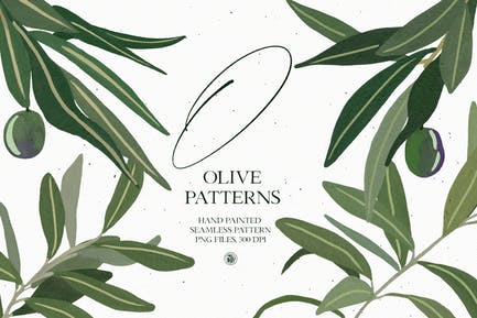 Olive Patterns - hand painted patterns