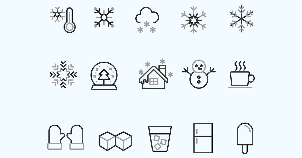 Download 15 Snow and Ice Icons by creativevip