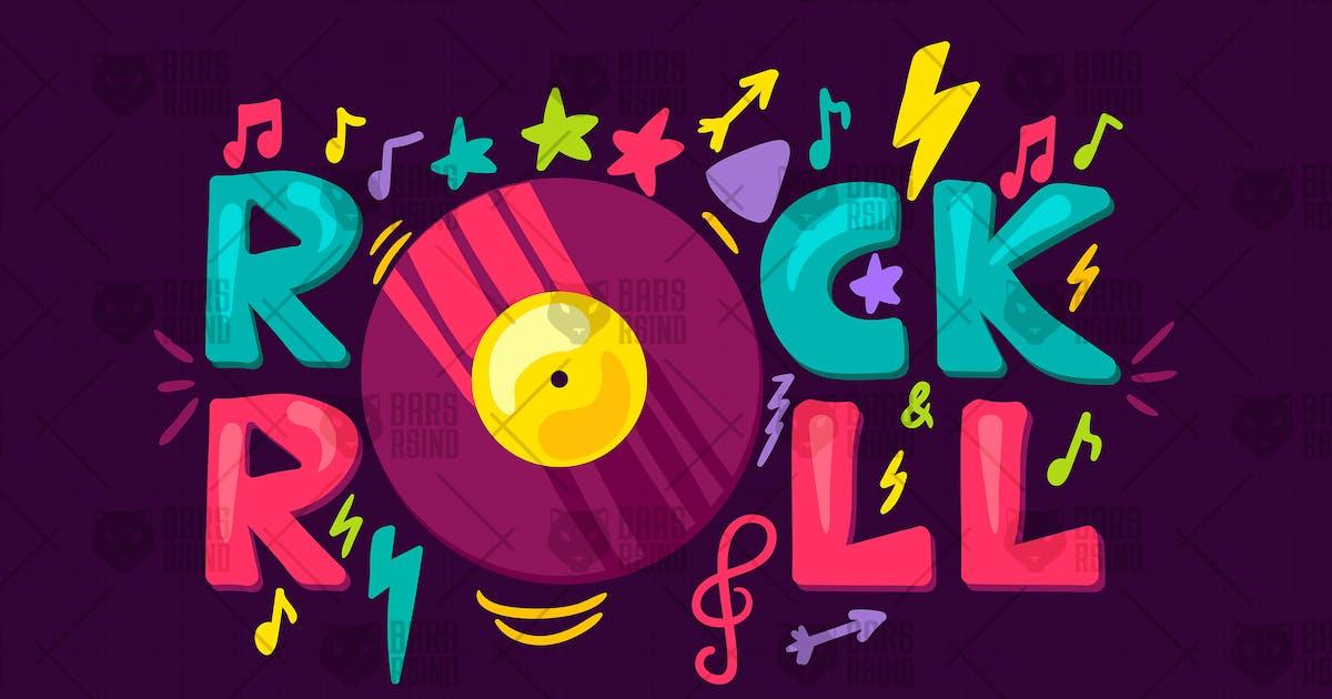 Download Retro Rock'n'roll Label by barsrsind