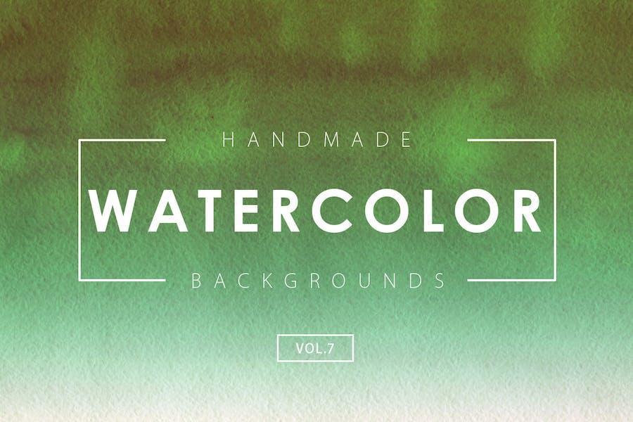 Handmade Watercolor Backgrounds Vol.7