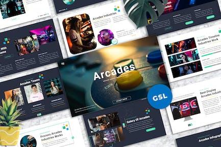 Arcades -  Arcade Games Googleslide Template