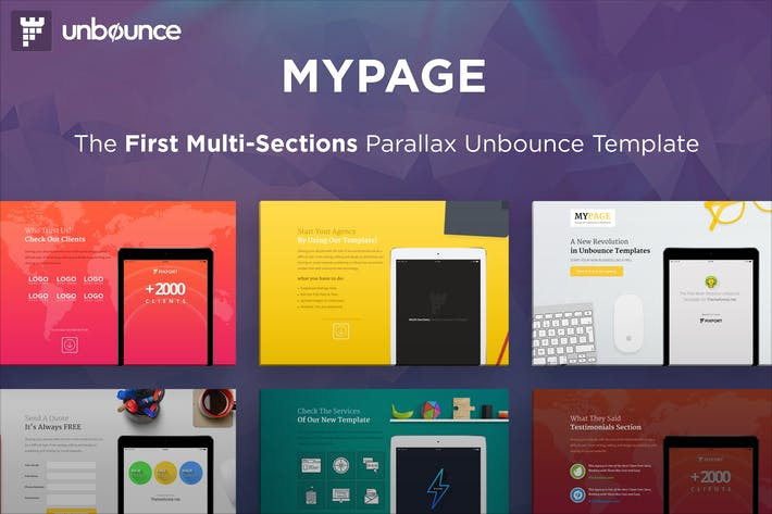 Thumbnail for MyPage - Multi-Sections Parallax Unbounce Template