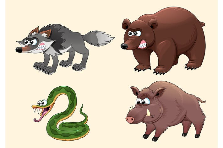 Angry Forest Animals