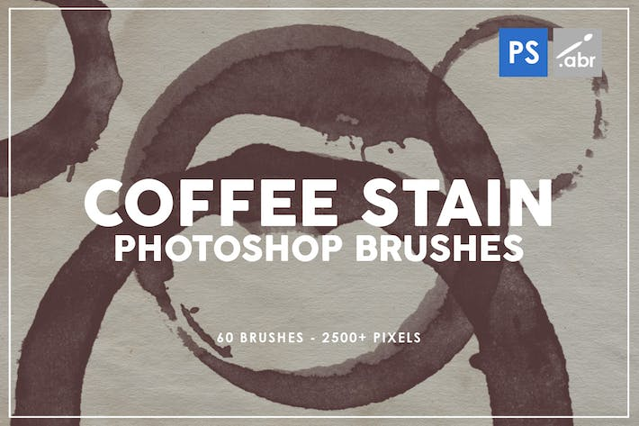 Thumbnail for Coffee Stain Photoshop Brushes