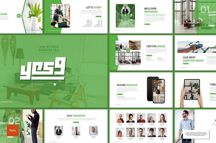Thumbnail for Yes9 - Business Powerpoint Template