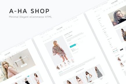 A-ha Shop - Minimal Elegant eCommerce HTML Templat