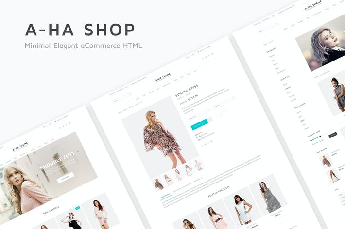 Thumbnail for A-ha Shop - Minimal Elegant eCommerce HTML Templat