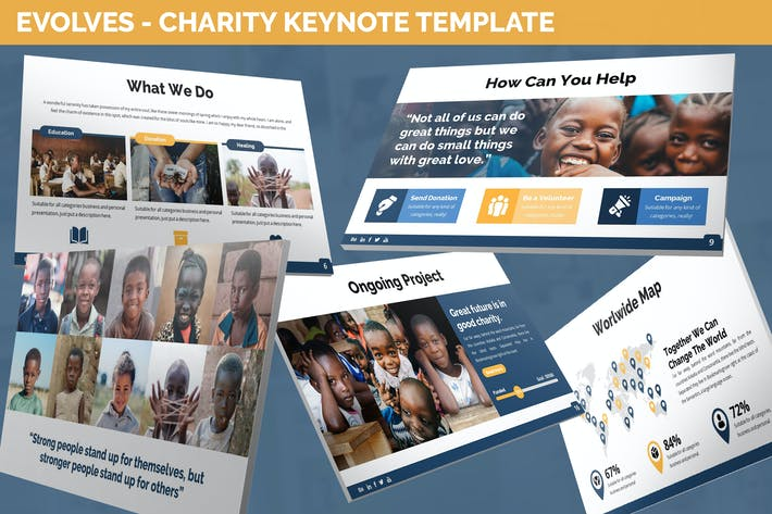 Thumbnail for Evolves - Charity Keynote Template