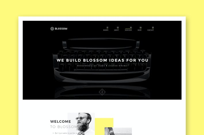 Thumbnail for Blossom - Минимальный PSD Шаблон Портфолио