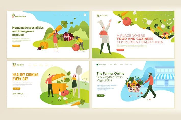 Cover Image For Web Page Design Templates for Food and Drink