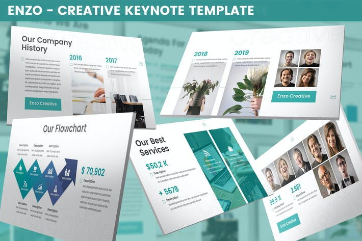Thumbnail for Enzo - Creative Keynote Template
