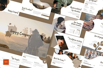 Happy Camping - Powerpoint Template