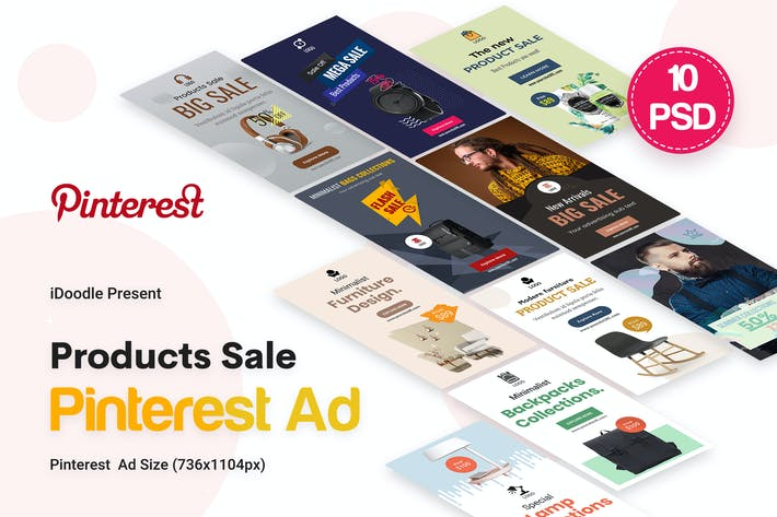 Cover Image For Products Sale Pinterest Ad