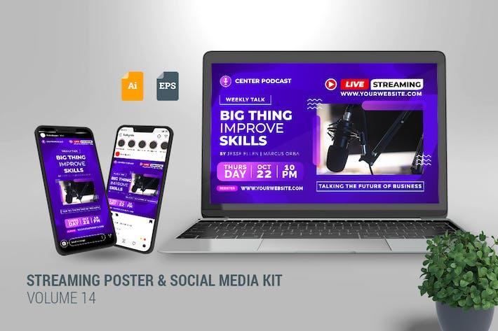 Streaming Poster & Social Media Kit Vol. 14