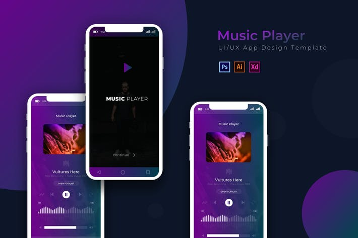 Thumbnail for Musik-Player | App Design-Vorlage