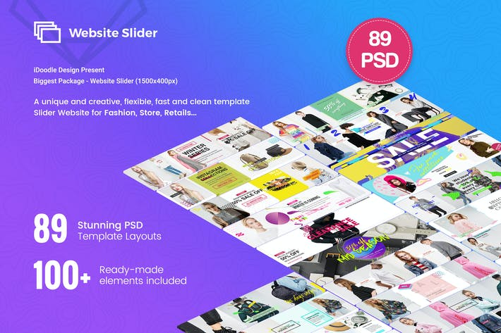 Thumbnail for Fashion Website Slider - 89 PSD