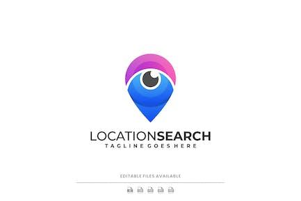 Location Search Gradient Logo