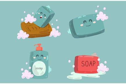 Soap Handwash Character Illustration