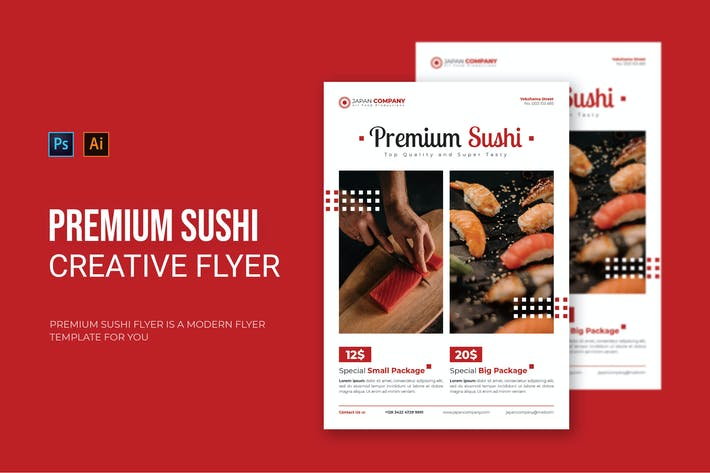 Thumbnail for Premium-Sushi - Flyer