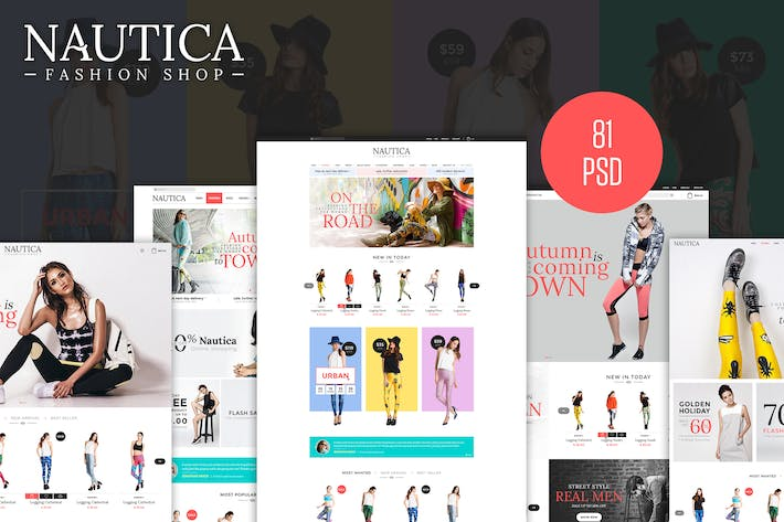 Cover Image For Nautica PSD Template