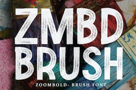 Zoombold Brush Font