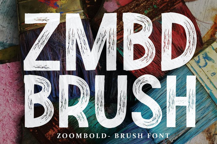 Thumbnail for Zoombold Brush Font