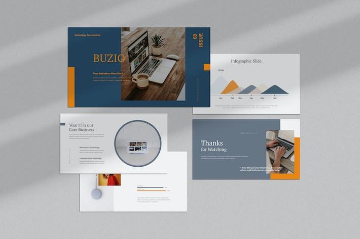 Thumbnail for Buzio : Tech Business Powerpoint