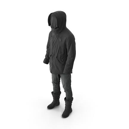 Mens Pants Boots Pullover Coat Black