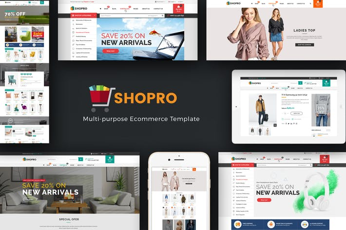 Cover Image For Shopro - Mega Store Responsive Magento Theme
