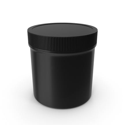 Plastic Jar Wide Mouth Straight Sided 6oz Closed Black
