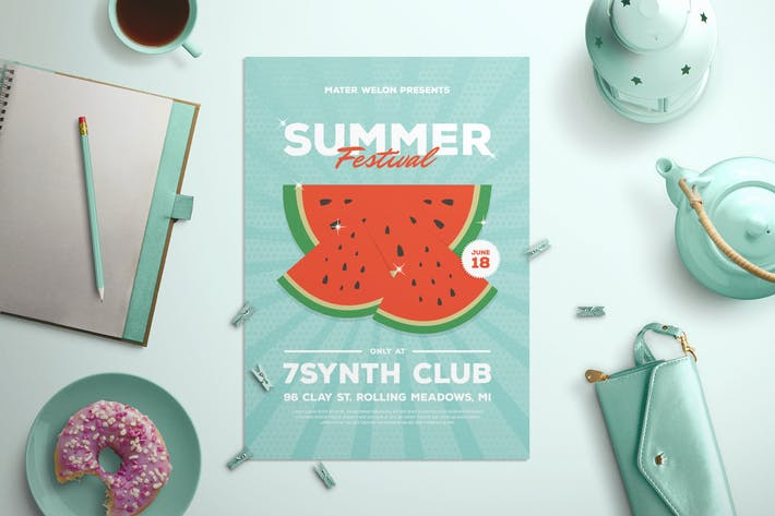 Thumbnail for Watermelon Summer Flyer