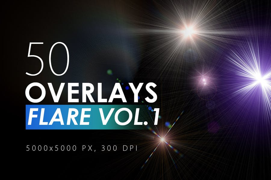 50 Flare & Stars Overlays Vol. 1