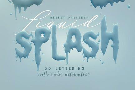 Liquid Splash — 3D Schriftzug