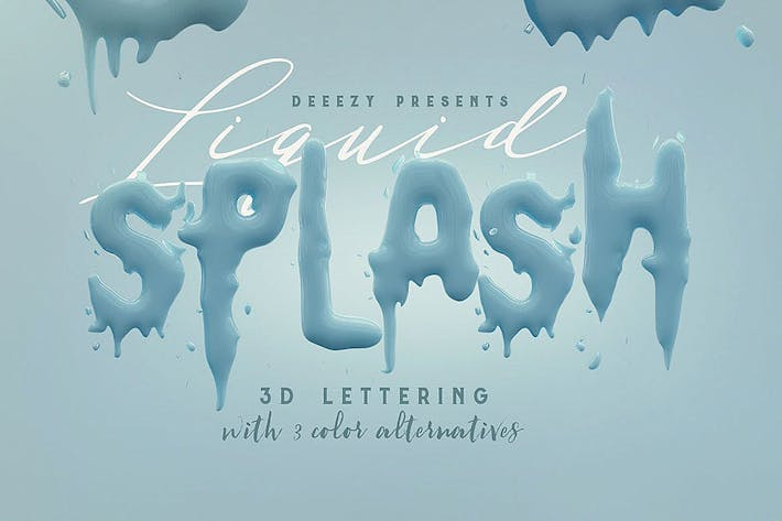 Thumbnail for Liquid Splash – 3D Lettering