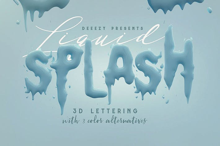 Liquid Splash – 3D Lettering
