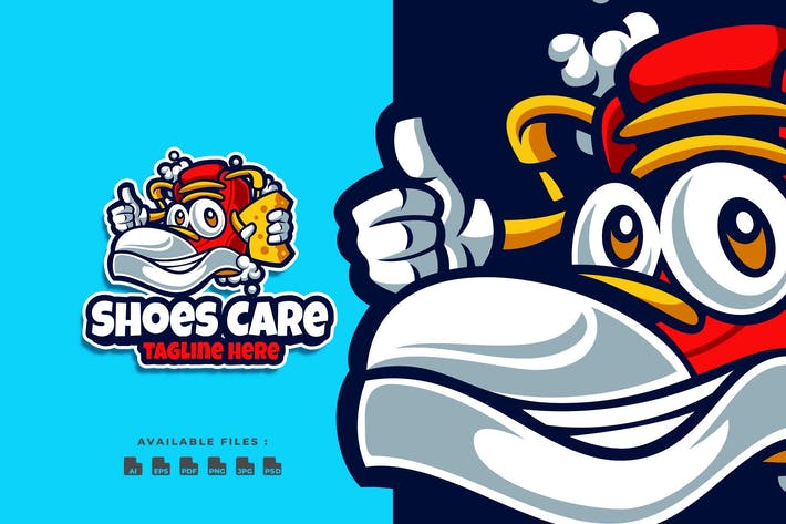 Thumbnail for Shoes Care Cartoon Logo