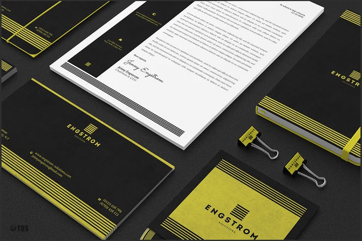 Cover Image For Black and Yellow Corporate Identity Template