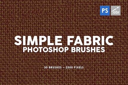 30 Pinceles para sellos de tela Simple Photoshop