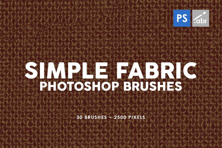 Cover Image For 30 Simple Fabric Photoshop Stamp Brushes