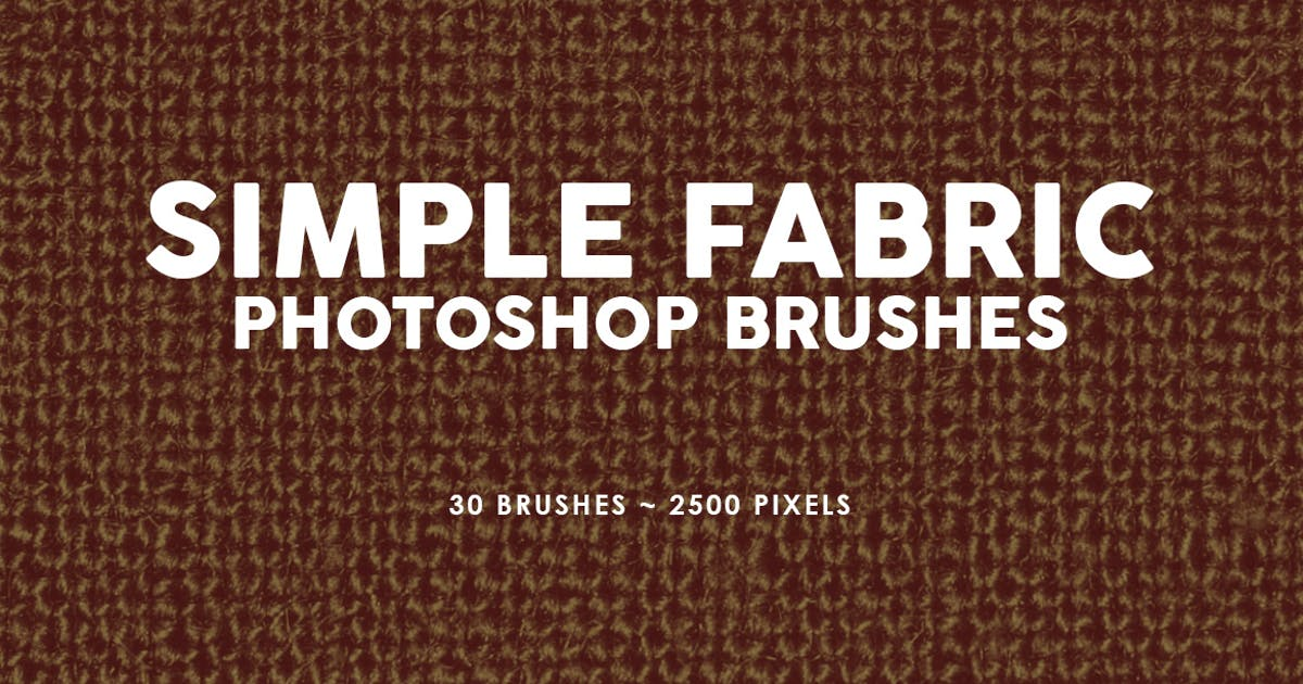 Download 30 Simple Fabric Photoshop Stamp Brushes by M-e-f
